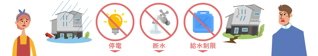停電・断水・給水制限